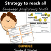Sentence Frames BUNDLE Teacher & Student Task Cards