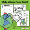 """Earthday Activity Lesson Plan Craft """"Make A Happy Planet""""Color Cut Draw Fold Kit"""