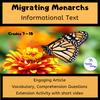 Migrating Monarchs Informational Text Activity