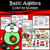 Cinco De Mayo Basic Algebra Color By Number Worksheets