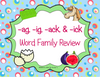 -ag, -ig, -ack, -ick Family Review