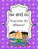 ow and ou: Do You Know the DIfference