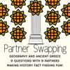 Ancient Greece Geography Mythology and Politics Partner Swap Activity