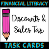 Financial Literacy Discount and Sales Tax Task Cards