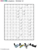 The accompanying colour-by-number grid.