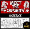 """Meet the Organs"" workbook- 12 pages!"