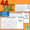 44 activities with a 144 grid (times tables, decimals, squared numbers, multiples)