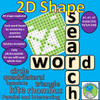 2D Shape Word Search - Solve the questions to find the answers