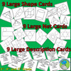 3D Shape Bingo, Images of shapes, nets and descriptions for up to 30 Players
