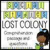 Lost Colony Reading Passage and Comprehension Questions Social Studies