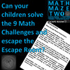 Math Escape Room - Math Maze Two - Number and Shape: 9 Challenges