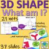 3D Shape - solids, nets and descriptions - 37 slides for teaching