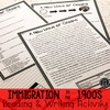 Immigration in the 1900s | Reading & Writing Activity