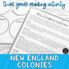 New England Colonies | Reading Activity Packet