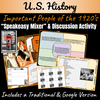 U.S. History | 1920's People | Speakeasy Mixer & Class Discussion Activities