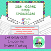 CCSS 2nd Grade Standards Checklists for Student Mastery