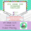 CCSS 5th Grade Standards Checklist for Student Mastery