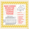 Basic Science Review Learning Activities for Chemistry (Distance Learning)
