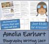 Amelia Earhart - 5th & 6th Grade Biography Writing Activity