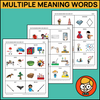 Multiple Meaning Words Task Cards - Set 1