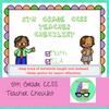 CCSS 5th Grade Standards Teacher Checklist