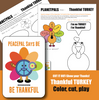 Thanksgiving Be Thankful Turkey Activity Bundle Color Cut Construct Kit