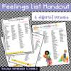 Feelings List Handout for Trauma-Informed School Counselor
