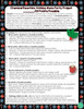Christmas Chemical Reaction Menu Project- Matter, Atoms,  and Periodic Table Unit