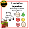 Lunchtime Equations - Multi-step Equations Activity