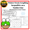 Winter Treats: Graphing Inequalities on a Number Line … A Maze and Word Jumble! Worksheets and Exit Ticket