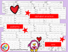 VALENTINE Math and Literacy Worksheets