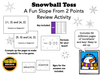 Snowball Toss: A Fun Slope From 2 Points Review Activity
