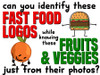 Fast Food vs. Fruits and Veggies Game! - FREE