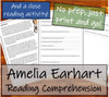 Amelia Earhart - 5th & 6th Grade Close Read & Biography Writing Bundle