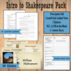 Shakespeare Introduction Pack | PowerPoint, Notes, and Quizzes
