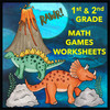 1st and 2nd Grade Games and Worksheets - Compare Numbers, Odd and Even, Sums of 10 - Math Centers