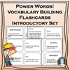 Power Words! Vocabulary Building Flashcards and Word Wall Introductory Set- FREE