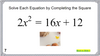 Solving Quadratic Equations by Completing the Square:  Google Slides Picture Puzzle - 16 Problems