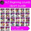 A-Z Beginning sounds clipart bundle