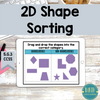 2D Shape Sorting: Digital Online Learning Activity