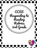 3rd Grade CCSS Reader's Response Rubric Standard RL3.1/RI 3.1 - FREE