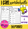 I Can Worksheets (Tracing & Writing)