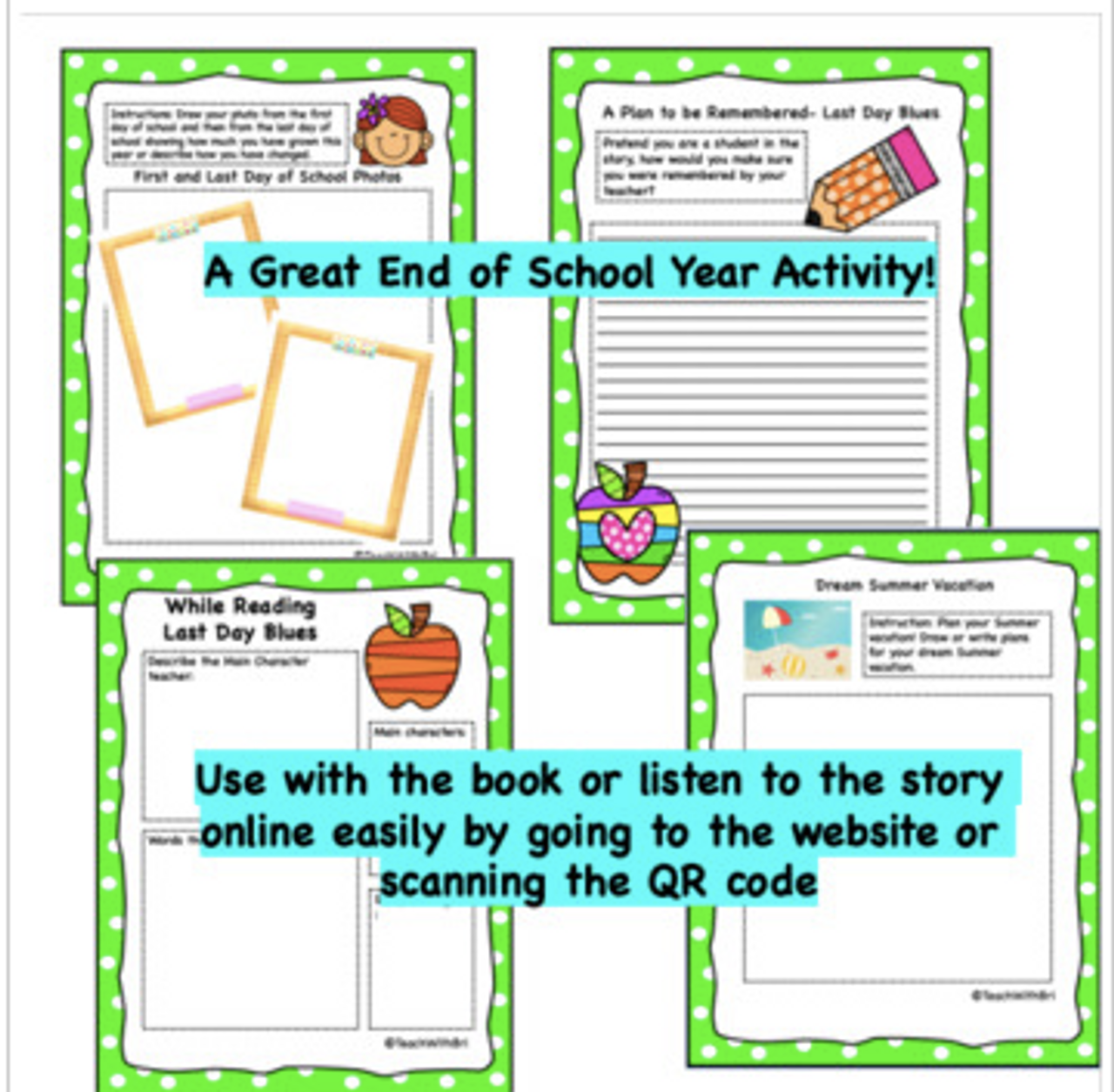Digital Version- Virtual Read-A-Loud-  Last Day Blues- (Designed for Google Drive) Student Activities