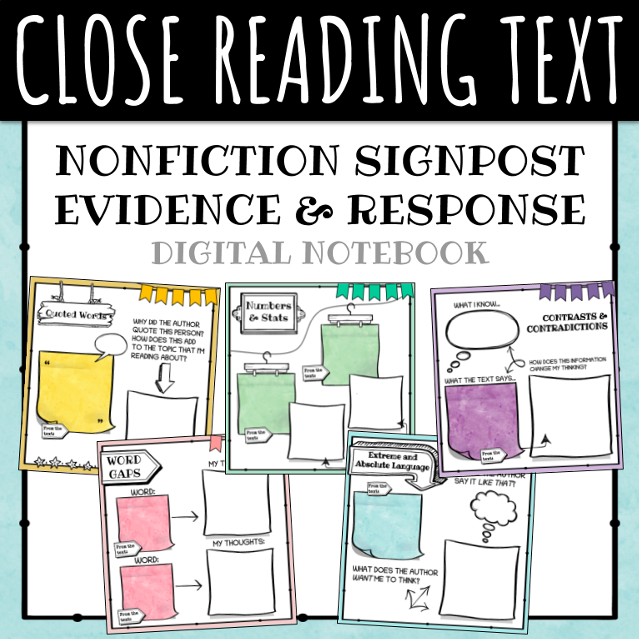 Close Reading Signposts: Digital Log for Nonfiction Text