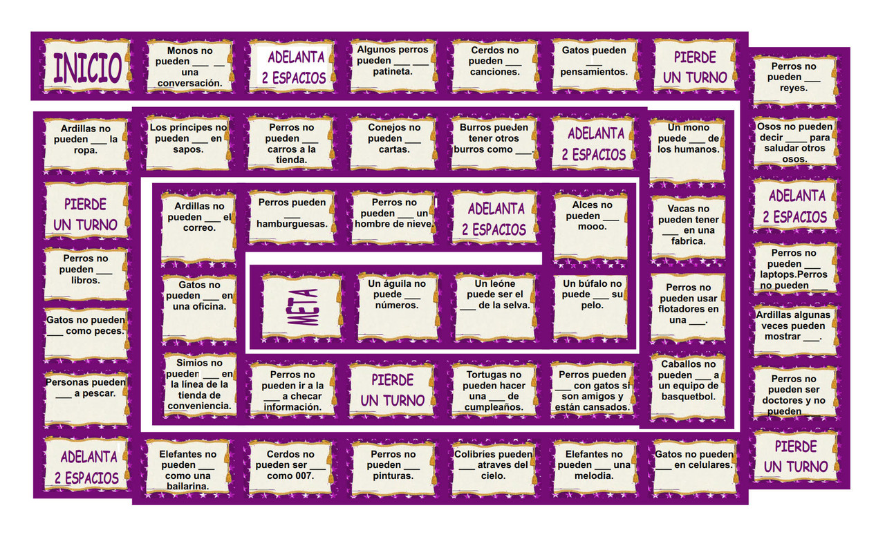 Ability Modals Spanish Legal Size Board Game