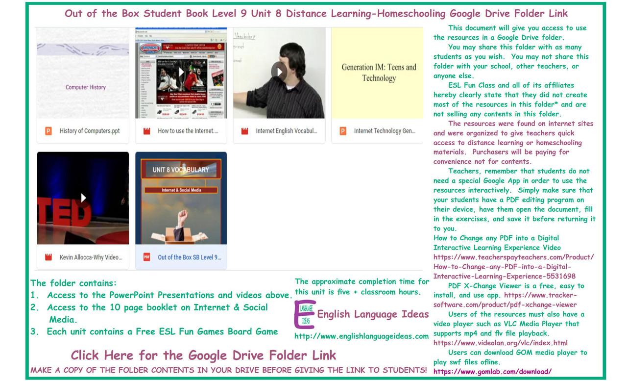 Internet & Social Media Distance Learning-Homeschool Bundle-Google Drive
