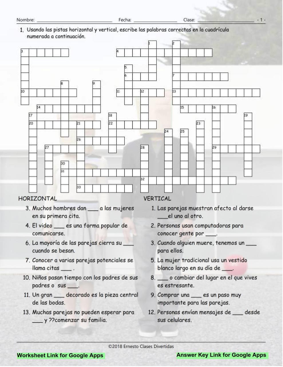 dating material crossword)
