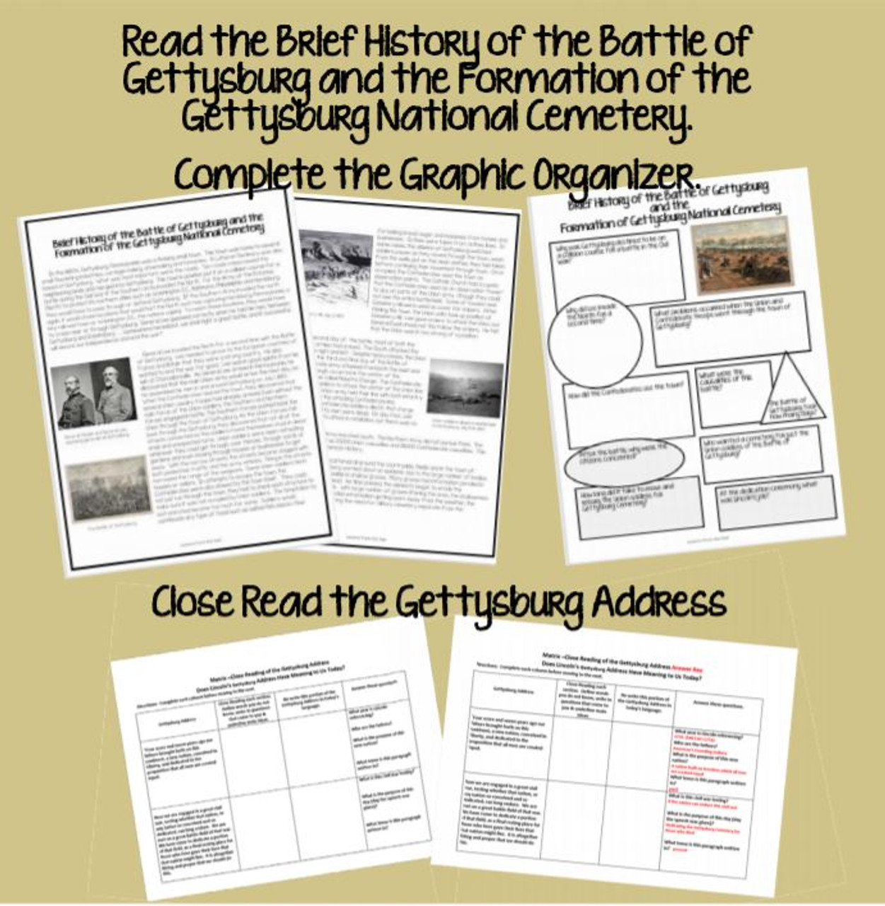 Close Reading the Gettysburg Address - Does It Have Meaning Today?