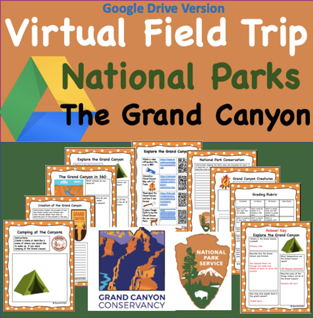 Google Drive Version- Grand Canyon National Parks Virtual Field Trip