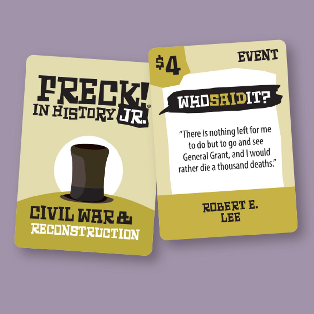 FRECK! in History JR. | 380 cards | Intermediate | Explorers to Modern America